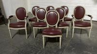 Set of 8 French Dining Chairs Lovely Original Finish (2 of 18)