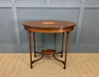 Fine Quality Oval Inlaid Mahogany Occasional Table (10 of 16)