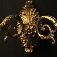 French Pair of Brass Wall Sconces c.1930 (6 of 10)