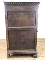 Antique Geometric Oak Chest of Drawers (8 of 10)