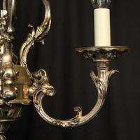 Italian Silver Gilded Triple Light Chandelier (7 of 10)