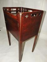 George III Mahogany Tray Top Bedside Cabinet (2 of 9)
