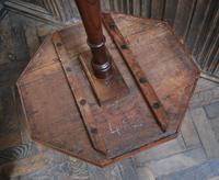French Mixed Wood Octagonal Tripod Table (4 of 4)