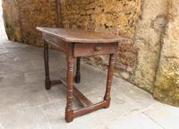 Late 17th Century Country Elm Side Table