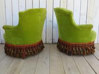 Pair of French Antique Napoleon III Tub Armchairs (3 of 10)