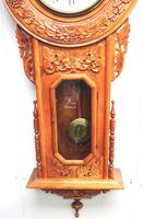Massive Rare Antique Carved Walnut 8-Day Drop Dial Striking Wall Clock (9 of 14)