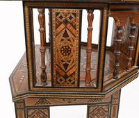 Pair of Damascan Chairs Inlay Arabic Syrian Interiors c.1920 (9 of 12)