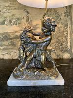 Early 20th Century Lamp Featuring Cherub & Goat (3 of 4)