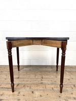 19th Century Mahogany & Boxwood Fold Over Table (8 of 10)