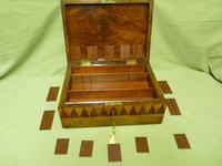 Large Tunbridge Ware Style Jewellery Box - Original Tray c.1870 (7 of 16)