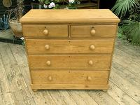 Superb & Large Old Pine Chest of Drawer / Sideboard (2 of 8)