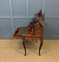19th Century Plum Pudding Mahogany Bonheur Du Jour (18 of 19)