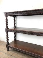 Antique Victorian Carved Oak Three Tier Display Shelves (9 of 10)