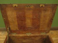 Antique Oak Chest, Early 19th Century Storage Chest for Weights, Lockable (8 of 21)