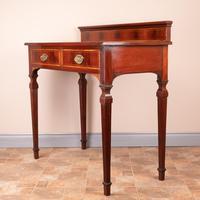 Edwardian Inlaid Mahogany 2 Drawer Side Table (11 of 15)
