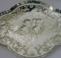 """Large 12"""" Cherub Angels Solid Sterling Silver Dressing Table Tray 1906 (6 of 7)"""