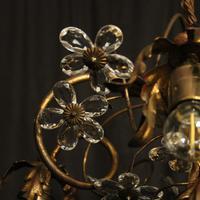 Italian Gilded Florentine 5 Light Plaffonier (4 of 10)