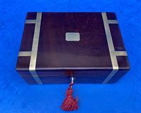 Georgian Solid Mahogany Brassbound Miniature Campaign Box (6 of 9)
