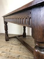 Early 20th Century Antique Oak Refectory Table (M-1739) (2 of 16)