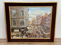"""Figurative Art Oil Painting Manchester Market Place """"The Street Traders"""" by Patrick Burke (2 of 34)"""