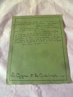 Original French 1954 Painted Menu by Pierre Thiriot, Major Set Designer (2 of 8)