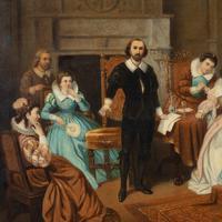 Large 19th Century Scene of William Shakespeare, British School Oil on Canvas (4 of 4)