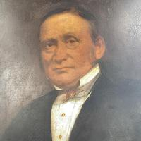 Large Antique Victorian Oil Painting Portrait of Gentleman in Formal Attire (5 of 10)