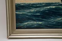 Antique Nautical Oil Painting (7 of 10)