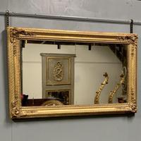 Large French gilt landscape overmantle mirror