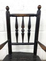 Antique 19th Century Provincial Oak Child's Chair (5 of 8)