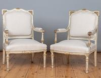 19th Century French Painted And Parcel-Gilt Upholstered Salon Suite (8 of 15)