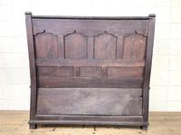 Antique 19th Century Carved Oak Settle (10 of 10)