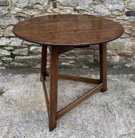 Antique Georgian Oak Cricket Table (3 of 15)