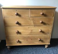 Stripped Pine Chest of Five Drawers