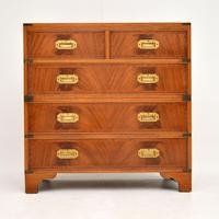 Antique Mahogany  Military Campaign Chest of Drawers (7 of 11)