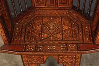 Pair of Damascus Syrian Moorish Inlaid Armchairs (10 of 17)