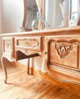 French Antique Style Dressing Table / Vanity Table with Mirror / Desk (3 of 5)