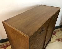 Vintage French Mid Century Filing Cabinet Tambour Roller (10 of 11)