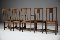 Set 5 Arts & Crafts Dining Chairs (7 of 12)