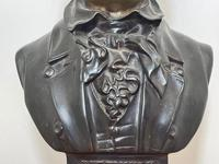 Classical Music Interest German Bronze Composer Ludwig Van Beethoven Bust Sculpture (6 of 25)