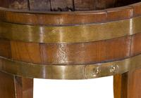 Late 19th Century Oak Coopered Brass Bound Planter (2 of 5)