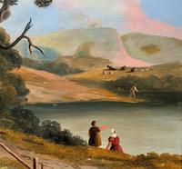 Large Stunning 19thc Arcadian Landscape Oil Painting in the 18th Century manner (5 of 13)