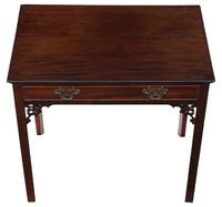 Georgian C1800 Cuban mahogany writing side table desk (8 of 8)
