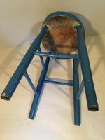 Chair Height Painted Stool (3 of 4)