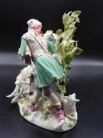 Complex Late 19th Century Meissen Group of Lovers (4 of 5)