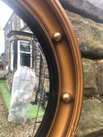 Antique Gilt Framed Convex Mirror (2 of 4)