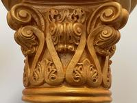 Dutch Golden Age Style Gilt Harvest Relief Plinth Display Torcheres (76 of 87)