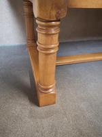 Large Solid Oak Refectory Table / Farmhouse Dining Table - Seats Ten (9 of 11)