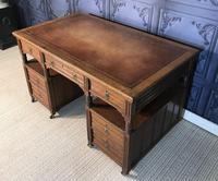 Victorian Oak Aesthetic Movement Desk (6 of 18)