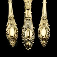 Antique Victorian Solid Silver Gilt Traveling / Christening Cutlery Set - Martin Hall & Co. 1872 (7 of 22)